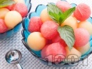 Рецепта Плодова салата с диня и пъпеш
